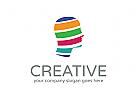 Kreativ Logo, Gehirn Logo