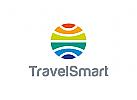 Tourismus Logo, Reise Logo, Transport Logo, Erde Logo