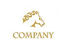 Hengst Logo, Pferd Logo, Pferdefarm Logo