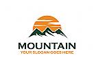 Berge Logo, Wandern Logo, Sport Logo