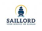 Ship sunset logo
