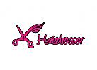 Friseur Logo, Scheren Logo