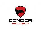 Kondor Logo, Vogel Logo, Schild Logo