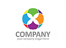bunt Logo, Kreis Logo, Verein Logo, Gruppe Logo, Sozial Logo