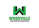 Buchstabe W Logo