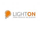 Abstract Light Bulb Logo
