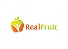 Obst Logo, Apfel Logo
