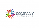 Menschen Logo, Gruppen Logo, Stern Logo