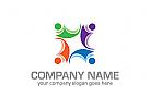Kinder Logo, Sozial Logo, Gruppe Logo, Menschen Logo