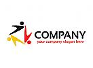 Menschen Logo, Gruppen Logo, Dreieck Logo