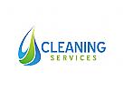 Reinigung Logo, Wasser Logo, Tropfen Logo