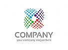 Daten Logo, Technologie Logo, Internet Logo, Bunt Logo