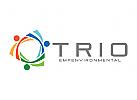 Recycling Logo, Umwelt Logo, Menschen Logo