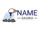 Sauna, Wasser, Feuer, Hitze, Wärme, Steine, Stein, Aufguss, Wellness