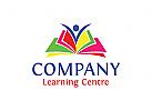 Schulen Logo, Bücher Logo, Bildung Logo