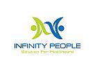 Unendlichkeit Logo, Gesundheitswesen Logo, Sorgfalt Logo