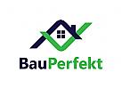 Haus Logo, Immobilien Logo, Bauwerk Logo