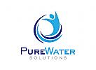 Wasser Logo, Pflege Logo, Reinigung Logo