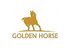 Logo, Pferd, Pferdefarm