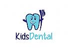Zahn, Zahnarzt, Zahn Maskottchen, Logo
