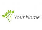 Öko, Pflanzen, Blätter, Baum Logo