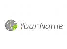 Öko, Zeichen, Zeichnung, Symbol, Person, Blatt, Orthopädie, Physiotherapie, Logo
