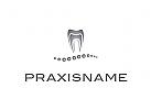 Logo, Zahn, Perlen, Kugeln, Zahnarztpraxis