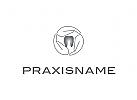 Logo, Zahnarzt, Hand, Prophylaxe