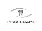Logo, Zahn, Abstrakt, Bogen, Linien