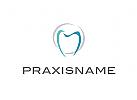 Logo, Zahnarztpraxis, Ring, Kreis, Abstrakt
