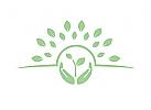 Logo, Natur, Heilkunde, Pflanze, Kosmetik, Heilpraktiker