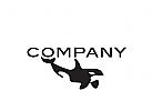 Logo, Orca, killer whale, Schwertwal