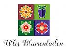 Vier Kacheln mit farbigen Blumenmotiven
