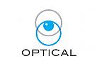 Logo, Auge, Optiker, Augenarzt