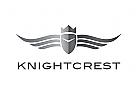 Zeichen, Signet, Logo, Wappen, Ritter, Helm, Flügel, Krone