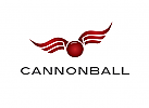 Logo, Kugel, Flügel, Wings, Cannonball