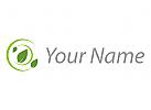 Vegan, Kreise und Blätter, Pflanzen Logo
