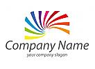 Zeichen, Skizze, Spirale, Regenbogen, Logo