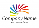 Spirale, Regenbogen Logo