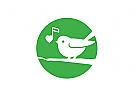 Logo, Vogel, Spatz, Sparrow