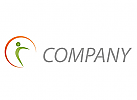 Wellness, Eine Person und Sonne, Kreis Logo