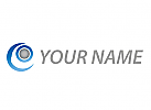 Rund, Kreise, Auge, abstrakt Logo