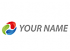 Zeichen, Zeichnung, Symbol, Spirale, Wellen, farbig, Logo
