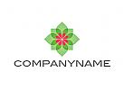 Zeichen, Signet, Logo, Blüte, Pflanze, Blume, Ornament, Kosmetik, Natur, Heilpraktiker, Wellness