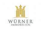 Immobilien Logo, Krone Logo