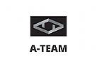 Zeichen, Signet, Logo, Monogramm, Buchstaben, A, T, Abstrakt