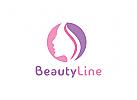 Schönheit Logo, Kosmetik Logo, Haut Logo