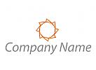 Sonne oder Stern, farbig Logo