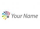 Spirale, farbig, Regenbogen, Maler Logo