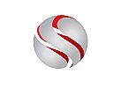 §,Zeichen, Signet, Logo, Kugel, Sphere, Segmente, Abstrakt, Silber, Rot, Rechtsanwalt, Steuerberater